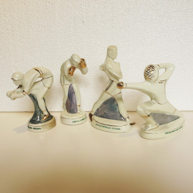 1960s Rome Olympics Glazed Porcelain Sports Figures - Set of 4 For Sale - Image 12 of 12