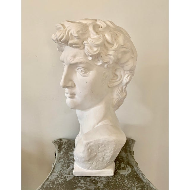 1990s Plaster Bust of David Sculpture For Sale - Image 4 of 12