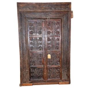 1950s Antique Wooden Carved Door For Sale