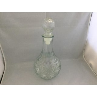 Vintage Glass Sunbrust Pattern Decanter Preview