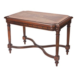 French Hand Carved Inlaid Side Table For Sale