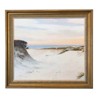 "Late 20th Century ""Dawn's Gift (Barney's Joy Beach)"" Seascape Oil Painting by Frank McCoy, Framed For Sale"