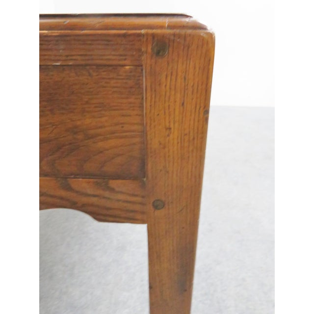 French Country French Country Henredon Oak Desk For Sale - Image 3 of 9