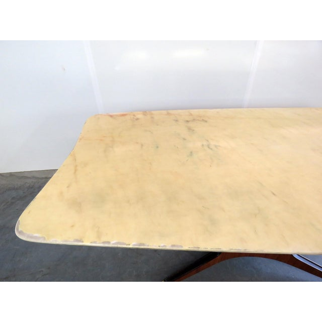 Metal Borsani Marble Top Dining Room Table For Sale - Image 7 of 11