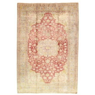 Early 20th Century Antique Turkish Oushak Hand-Knotted Rug - 4′10″ × 7′2″ For Sale