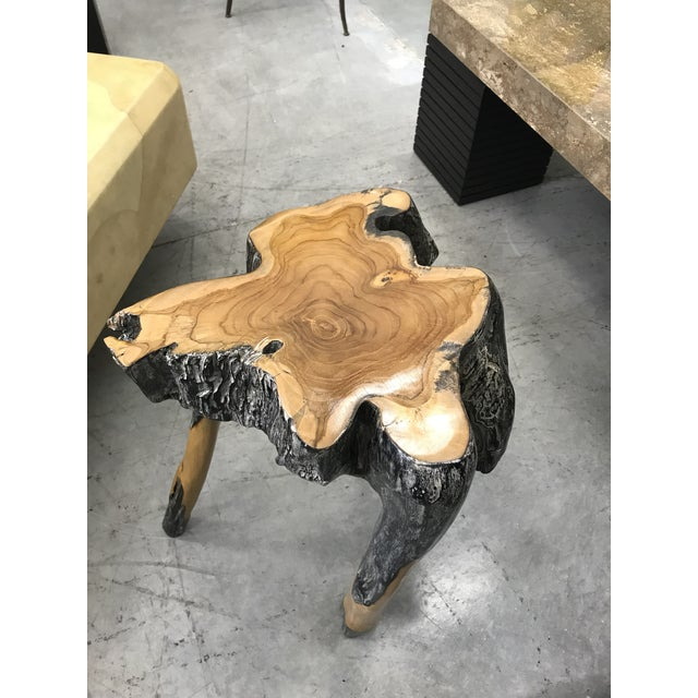 Live Edge Wood Stools - Set of 3 For Sale - Image 4 of 7