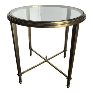 20th C Neoclassical Bronze Side Table For Sale