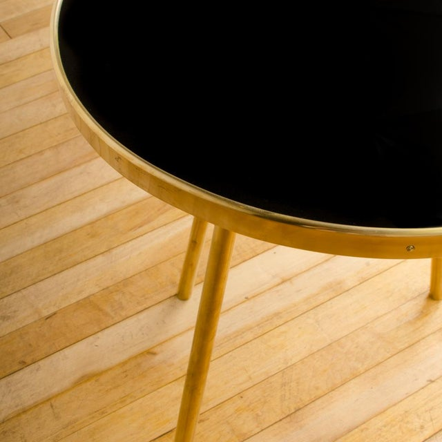 Italian Modern Brass Occasional Tables - a Pair For Sale - Image 9 of 12