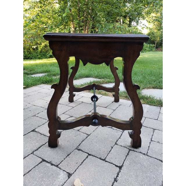 Wood Traditional Port Eliot 2-Drawer Wooden Side Table For Sale - Image 7 of 8