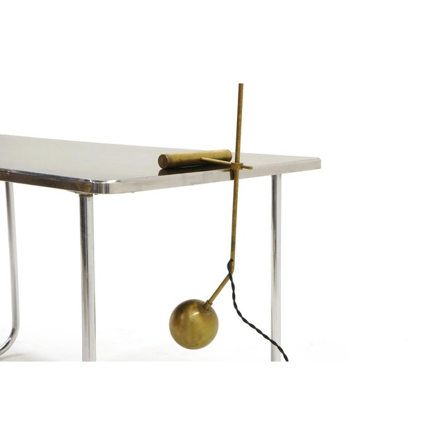 Adjustable Brass Table Lamp With Counter Balance by Stilnovo For Sale In Kansas City - Image 6 of 9