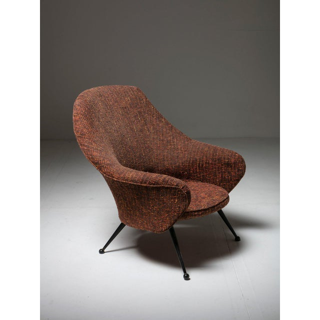 "Fabric ""Martingala"" Lounge Chair by Marco Zanuso for Arflex For Sale - Image 7 of 7"