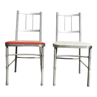 Pair of Art Deco Aluminum Warren McArthur Dining Chairs 1930's For Sale