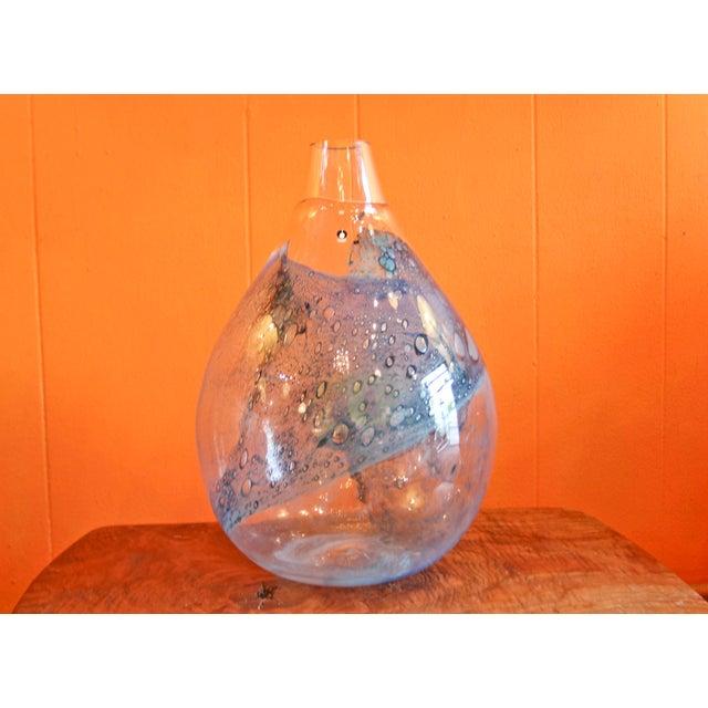 Pukeberg Eva Englund Art Glass Vase For Sale - Image 12 of 12