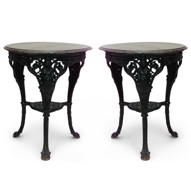 Outdoor English Victorian Iron Pub Tables For Sale - Image 4 of 4