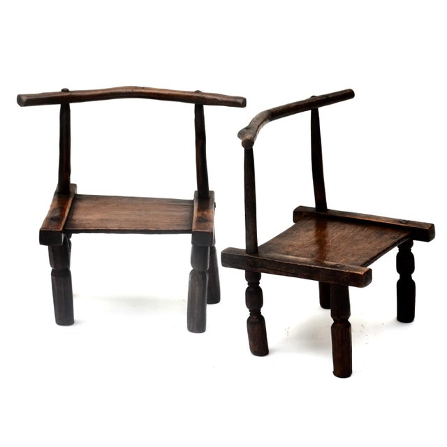 In Africa's Ivory Coast , the Senufo chiefs and families have used low wooden chairs for centuries. A nicely rustic hand-...