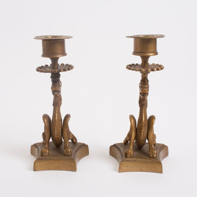 Vintage Brass Dragon Candle Holders - A Pair - Image 5 of 7