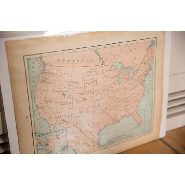 American Cram's 1907 Map of Usa For Sale - Image 3 of 7