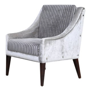 Modern Kravet by Costantini Lucina Gray Lounge Chair For Sale