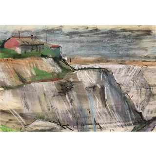 England South Coast, Abstract Modern Landscape – Robert Kitts, C.1950 For Sale
