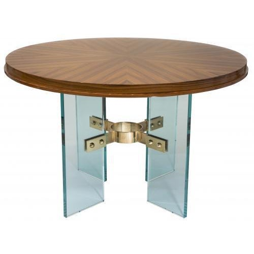 Studio Van den Akker Studio Van den Akker Jules Center Dining Table - Floor Sample For Sale - Image 4 of 5