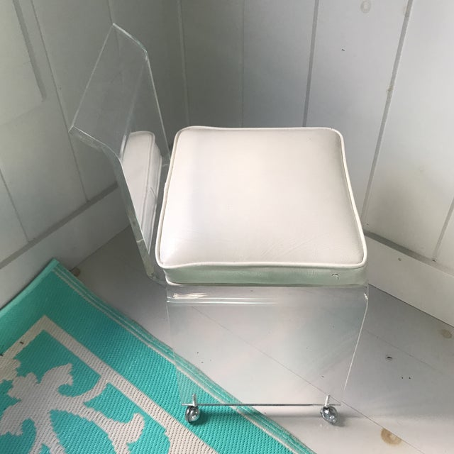 1960s Vintage Lucite Chair For Sale - Image 10 of 12