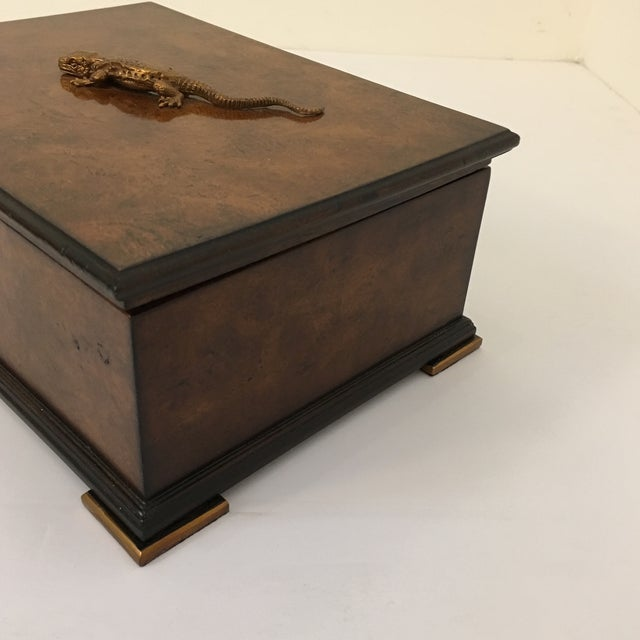 2010s Traditional Theodore Alexander Walnut Decorative Box For Sale - Image 5 of 8