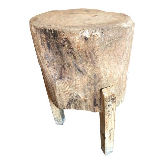 20th Century Organic Modern Tree Trunk Chop Block For Sale