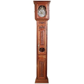 Mid-18th Century Antique French Long Case Clock For Sale