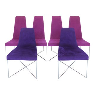 "Ligne Roset ""S0"" Chairs W/ Alcantara Upholstery- Set of 6"