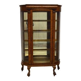 Quartersawn Oak Bowed Curved China Display Cabinet