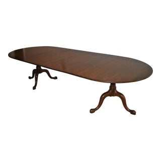 20th Century Queen Anne Henkel Harris Mahogany Dining Table For Sale