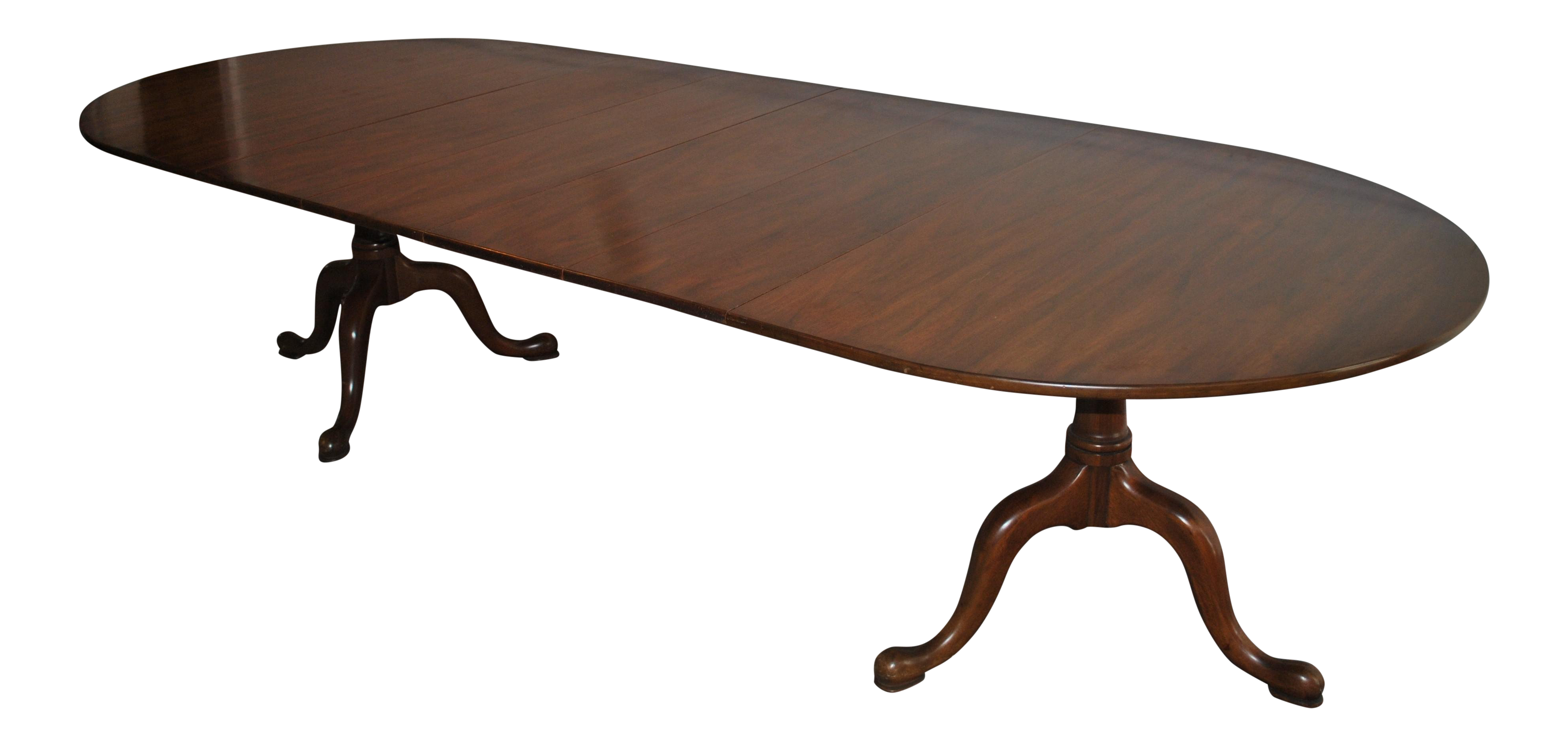 20th Century Queen Anne Henkel Harris Mahogany Dining Table