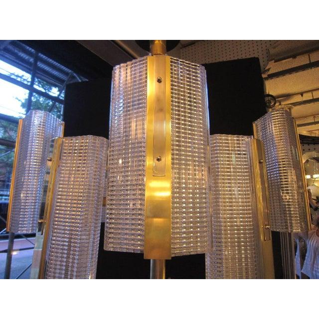 Transparent Kalmar Modernist Brass and Glass Ten-Arm Austrian Chandelier For Sale - Image 8 of 12