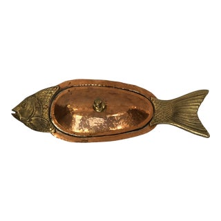 Hand Hammered Fish Serving Dish For Sale