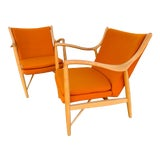 Image of Finn Juhl 45 Chairs- A Pair For Sale