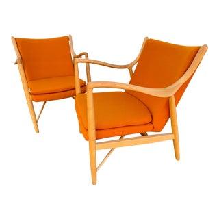 Finn Juhl 45 Chairs- A Pair For Sale