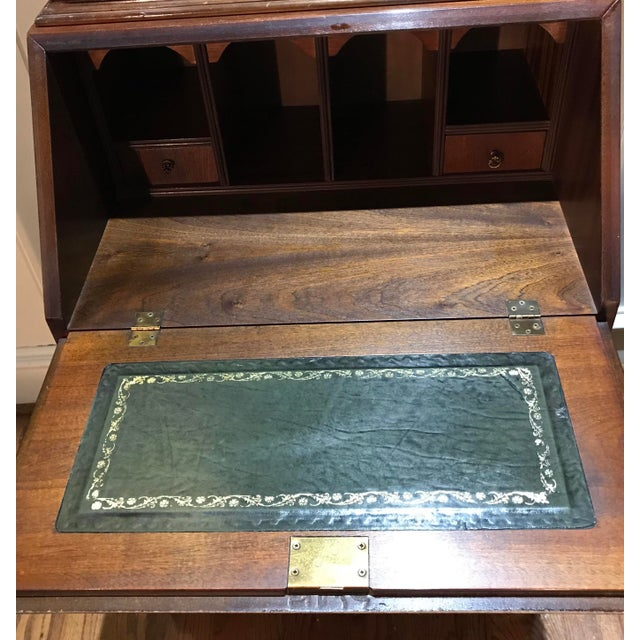 20th Century English Inlaid Desk Secretary With Bookcase For Sale - Image 12 of 13