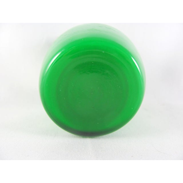 Green Empoli Cased Green Glass, Swizzle, Verde, Martini Cocktail Pitcher Set - 7 Piece Set For Sale - Image 8 of 12