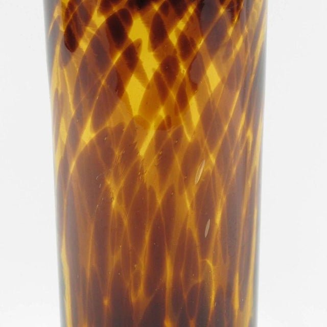 Empoli Empoli for Christian Dior Modernist Tortoiseshell Glass Tumbler Vase For Sale - Image 4 of 6