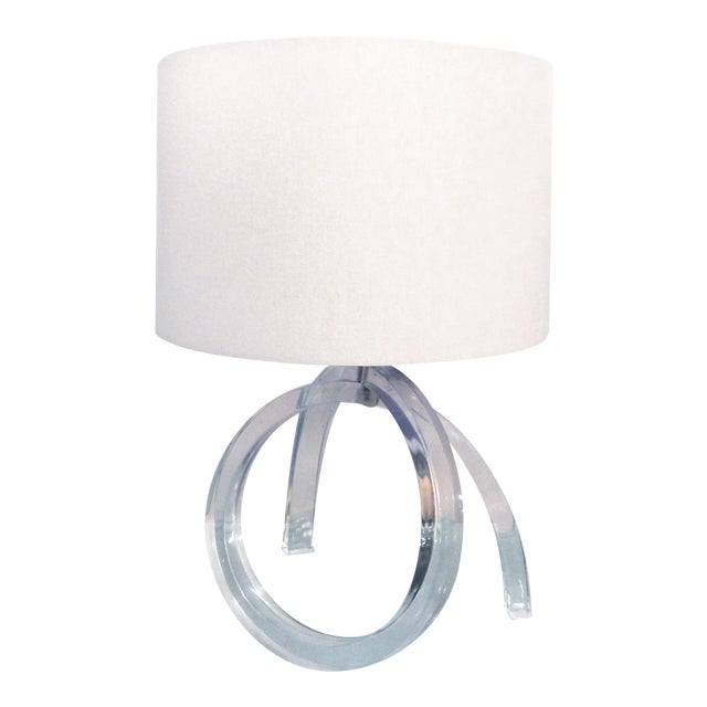 Mid-century Sculptural Lucite Table Lamp - Image 1 of 11