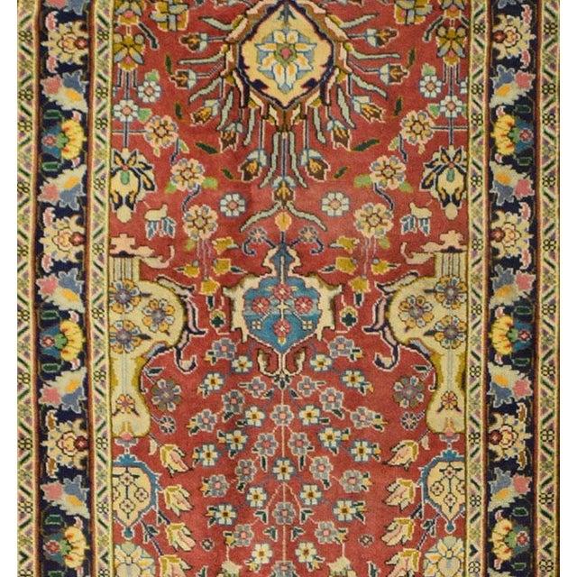 Vintage Persian Tabriz Rug - 3′2″ × 15′7″ - Image 2 of 3