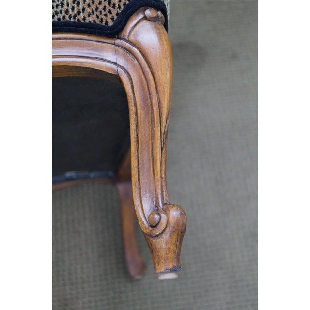 French Ethan Allen French Louis XV Cheetah Print Chair For Sale - Image 3 of 10
