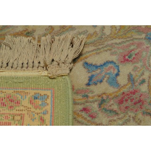 "Karastan Soft Green Kirman 8'7"" X 12'9"" Room Size Rug For Sale - Image 10 of 12"