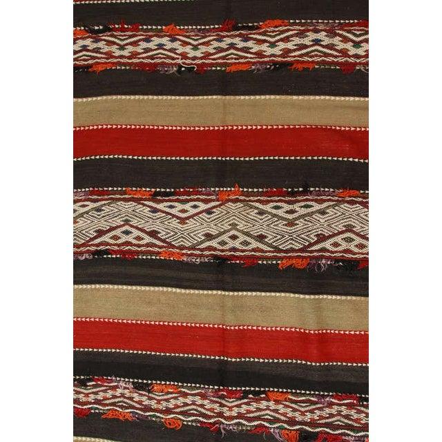 1950s Vintage Moroccan Tribal Kilim Rug North Africa For Sale - Image 5 of 10