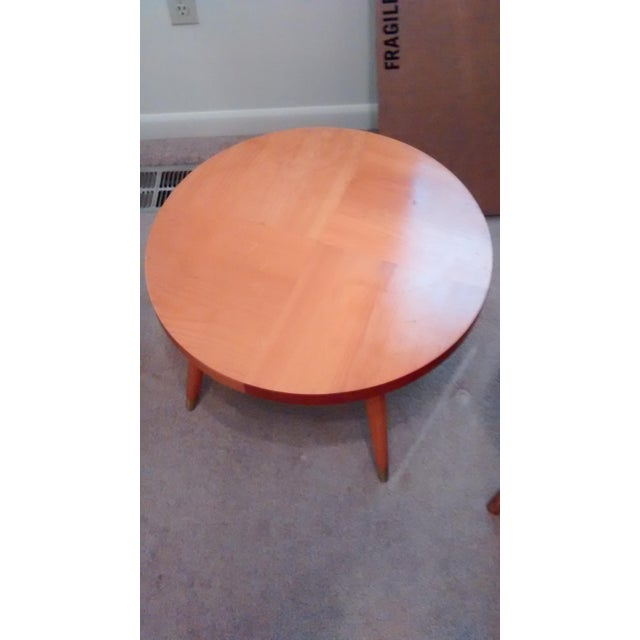 Mid Century Modern Round Side Table - Image 3 of 3