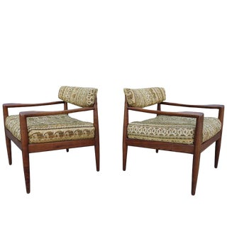 Mid-Century Adrian Pearsall Lounge Chairs 'Pair' For Sale