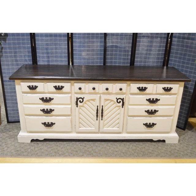 Thomasville Shabby Cottage Chic Dresser - Image 6 of 11
