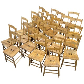 Weathered Plank Grange Hall Chairs 24 Available