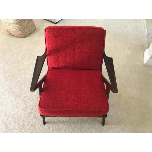 Selig Selig Danish Modern Z Chair For Sale - Image 4 of 8