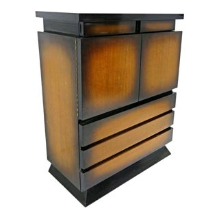 1950 Mid-Century Sunburst Cabinet For Sale